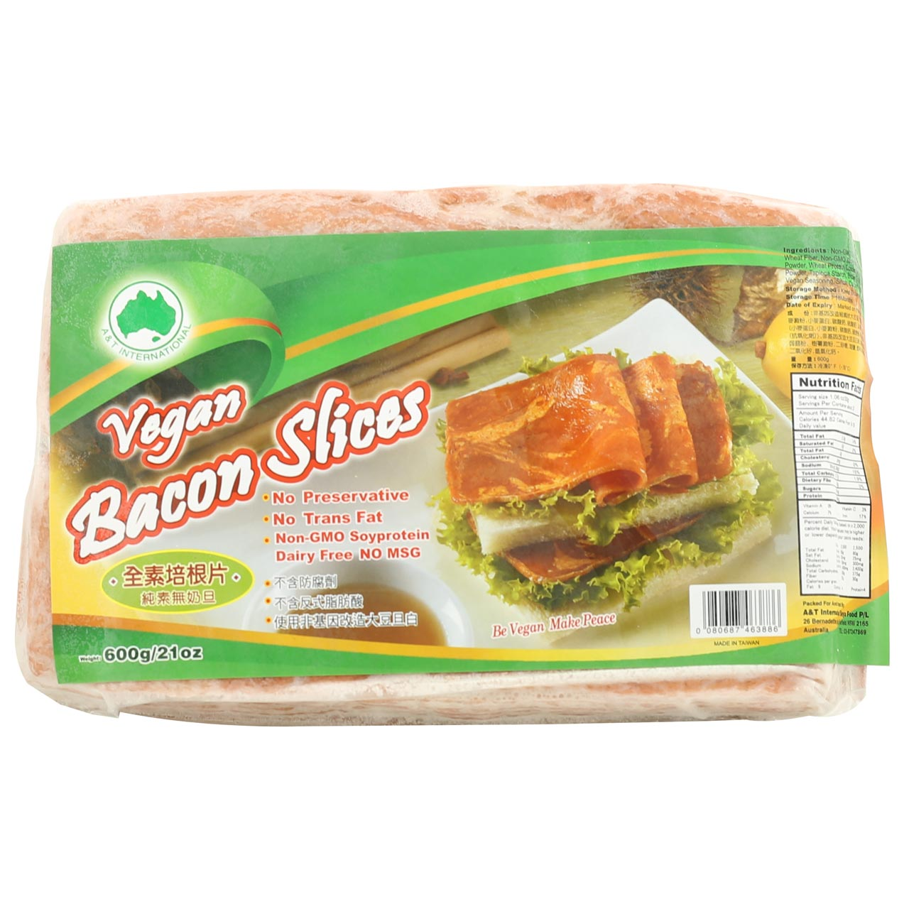 A & T Vegan Bacon Long Slices