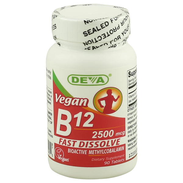 Deva Vegan B12 2500mcg (Sublingual)