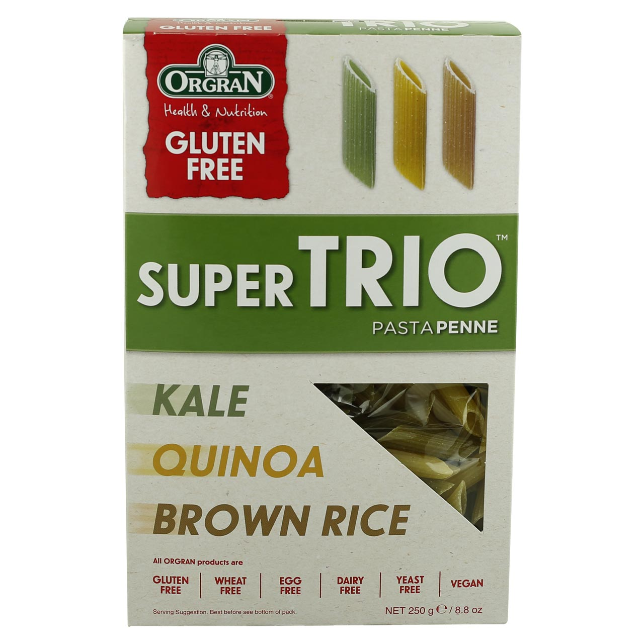 Orgran Super Trip Penne - Kale, Quinoa & Brown Rice