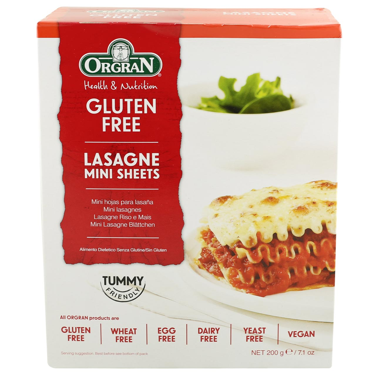 Orgran Lasagne Mini Sheets