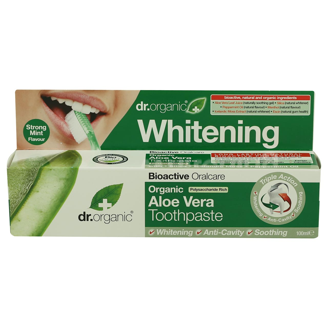 Dr Organic Toothpaste -Whitening with Aloe Vera
