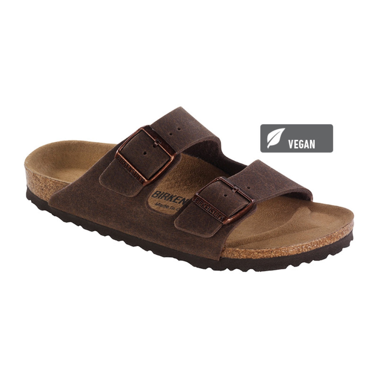 Birkenstock Vegan Arizona Sandals -Cocoa Brown (Microfibre)