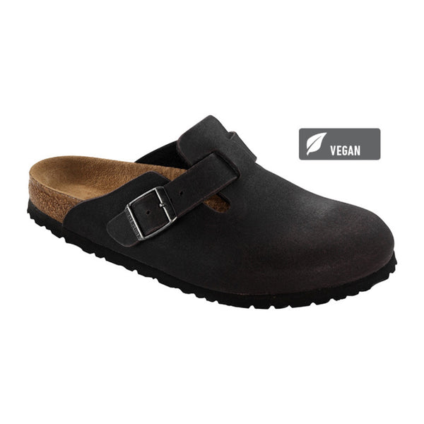 Birkenstock Vegan Boston Clogs -Anthracite (Microfibre)