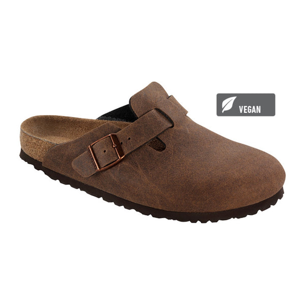 Birkenstock Vegan Boston Clogs -Cocoa Brown (Microfibre)