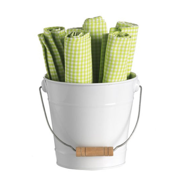 Retro Kitchen Bucket of Napkins -Green