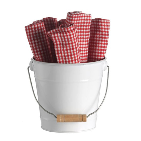 Retro Kitchen Bucket of Napkins -Red