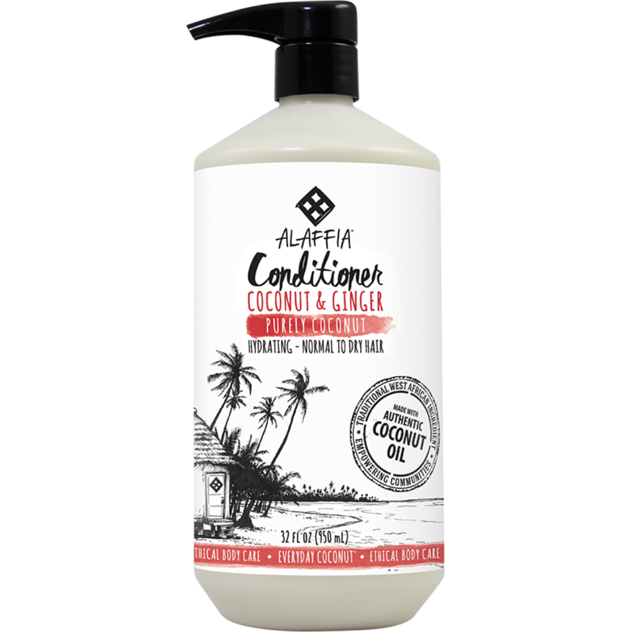 Alaffia Coconut & Ginger Conditioner -Purely Coconut
