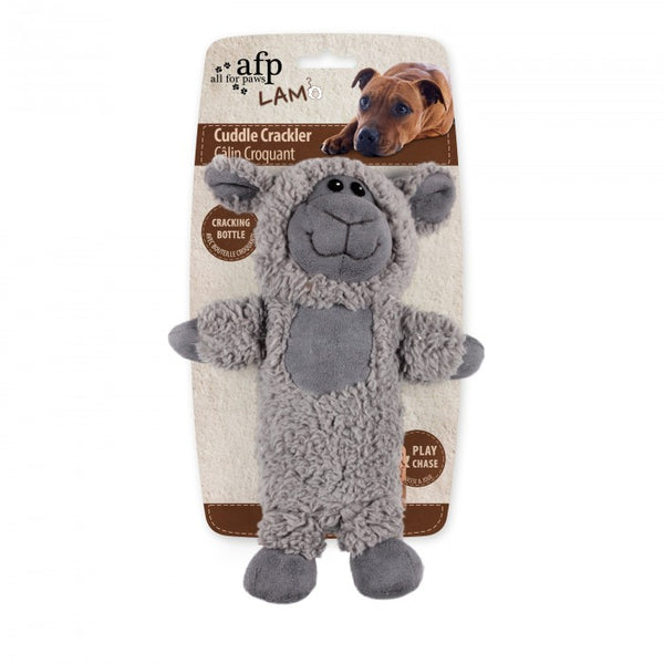 Cuddle Crackler Dog Toy - Sheep