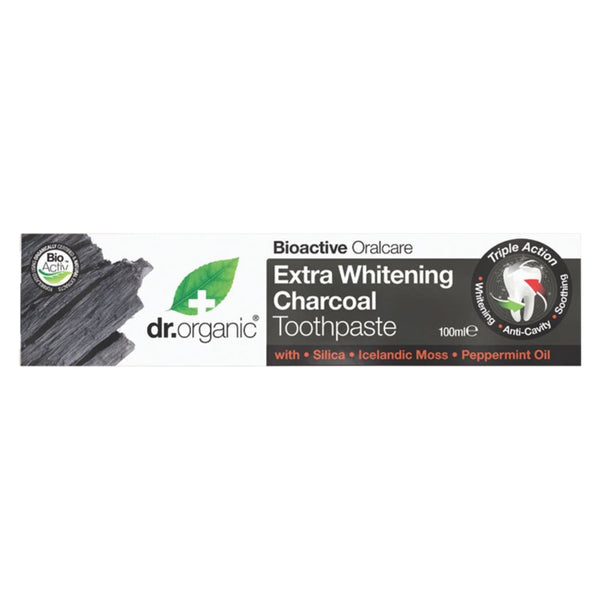 Dr Organic Toothpaste -Extra Whitening Charcoal