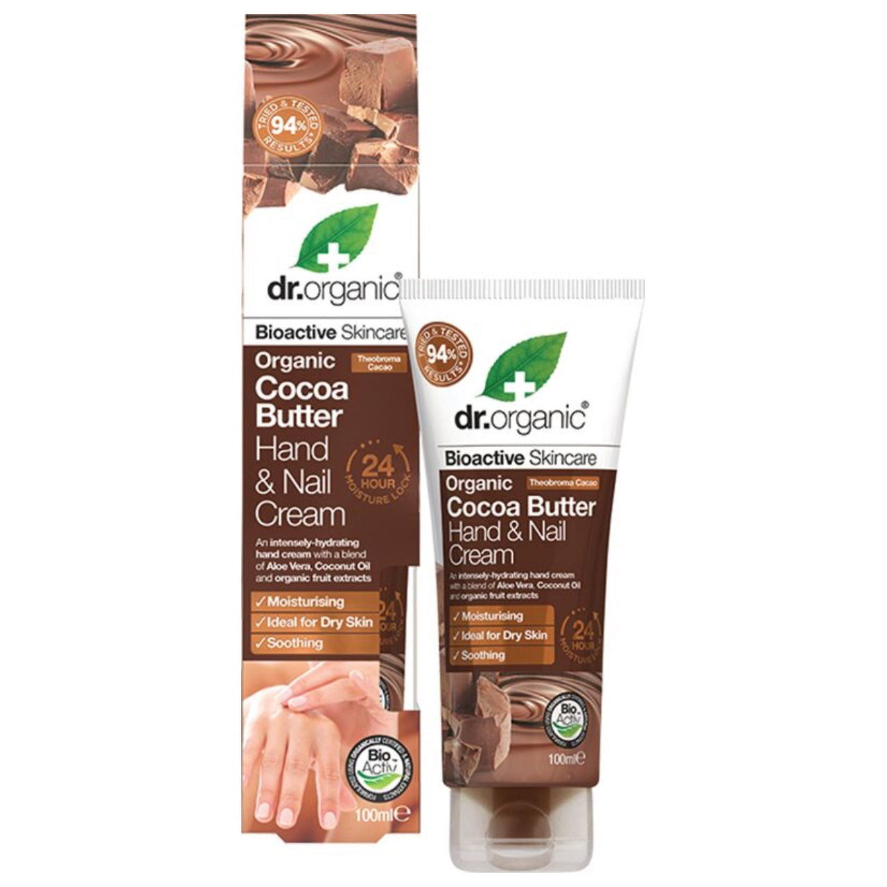 Dr Organic Hand & Nail Cream -Organic Cocoa Butter