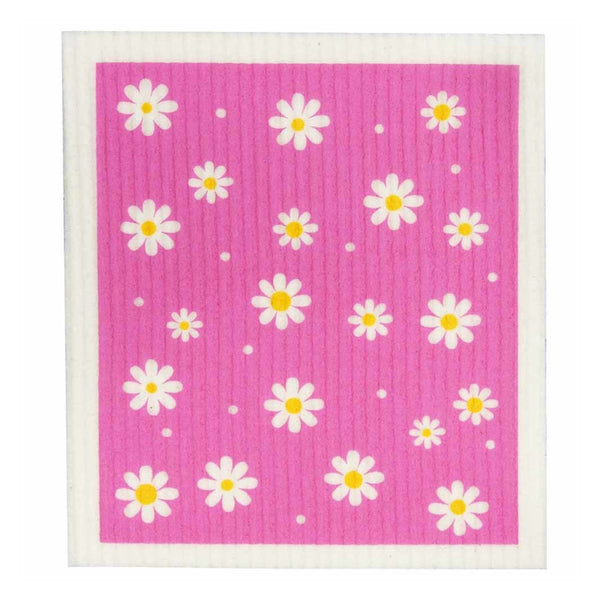 Retro Kitchen Biodegradable Dish Cloth -Daisies