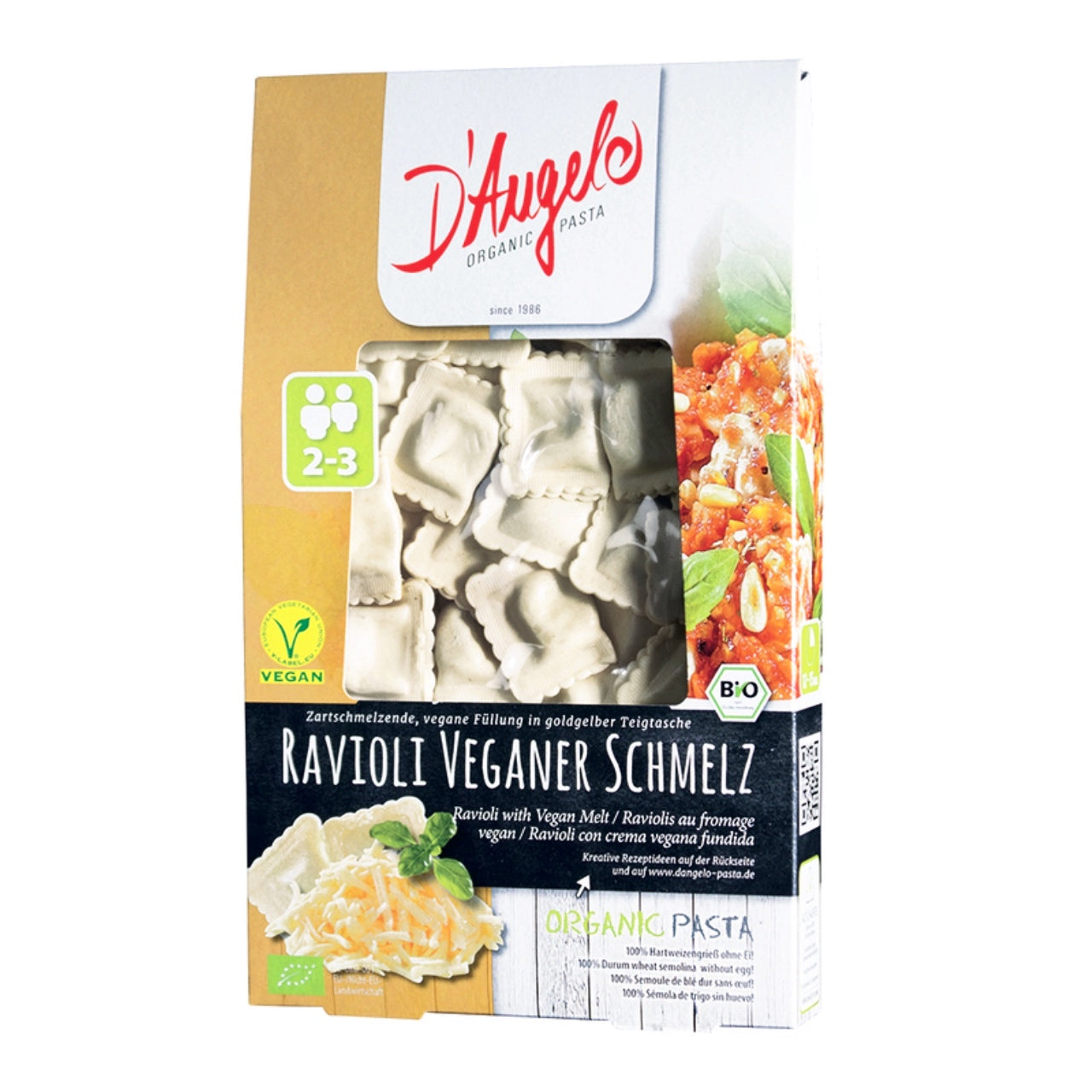 D'Angelo Vegan Melt Cheese Ravioli