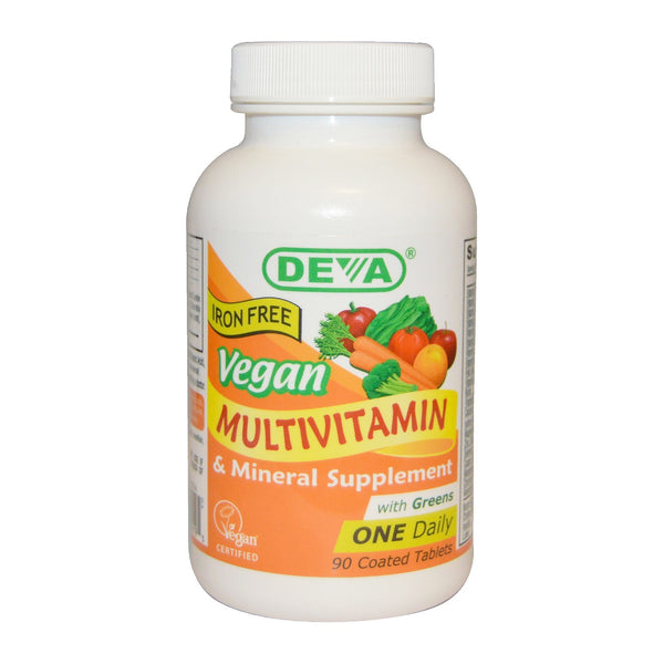 Deva 1-A-Day Multivitamin ~Iron Free