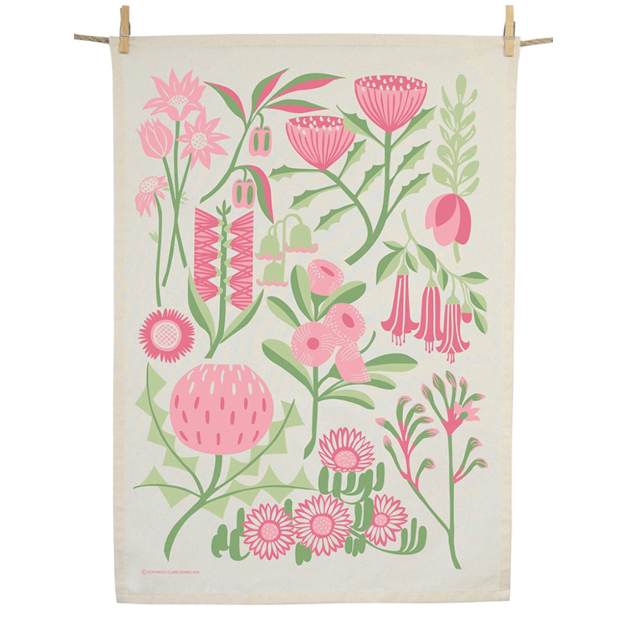 Earth Greetings Tea Towel - Bountiful Land