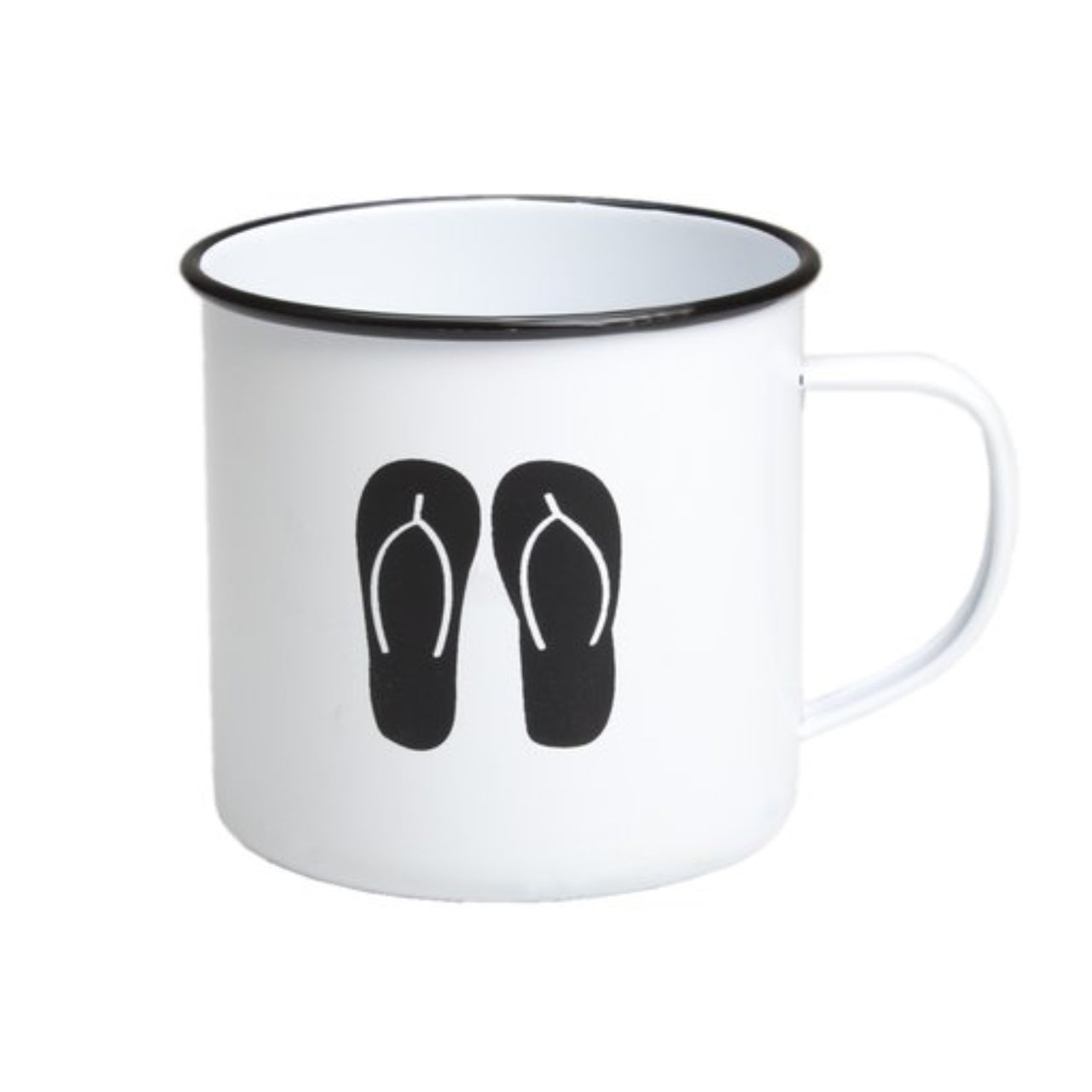 Retro Kitchen Enamel Mug -Thongs