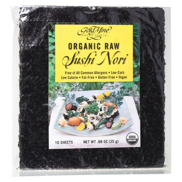 Gold Mine Organic Raw Sushi Nori