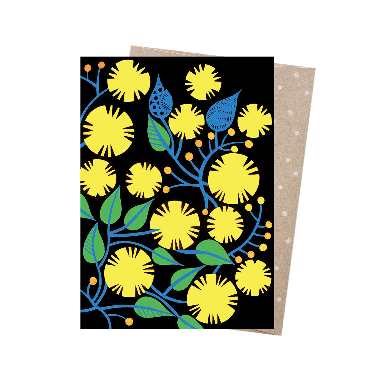 Earth Greetings Card -Golden Wattle