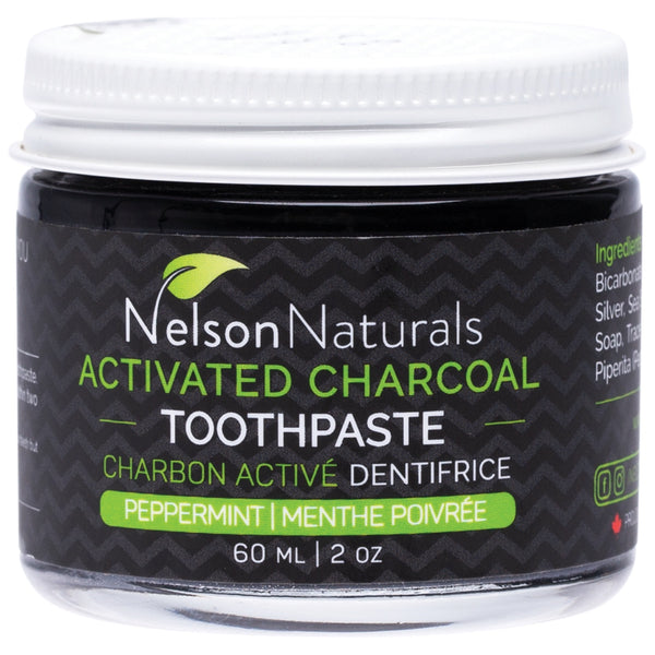 Nelson Naturals Activated Charcoal Toothpaste -Peppermint