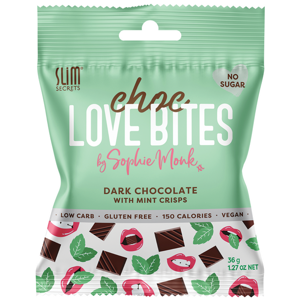 Slim Secrets Dark Choc Love Bites with Mint Crisps