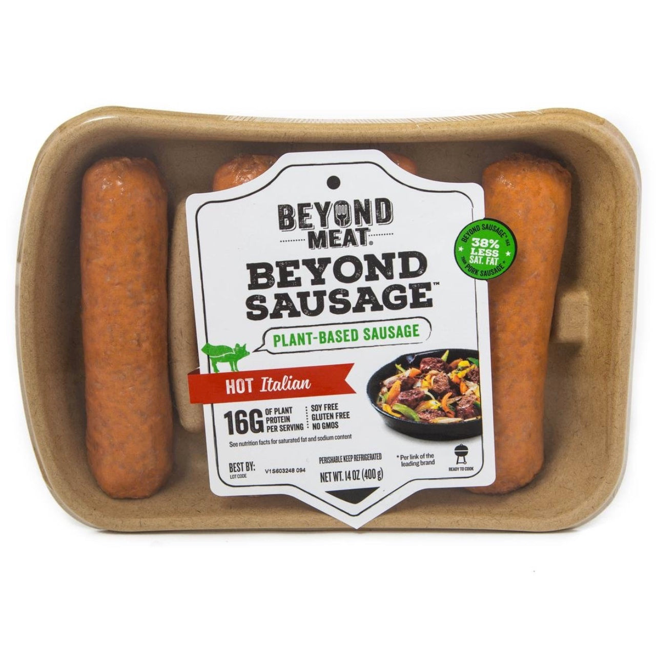 Beyond Meat Sausages -Hot Italian