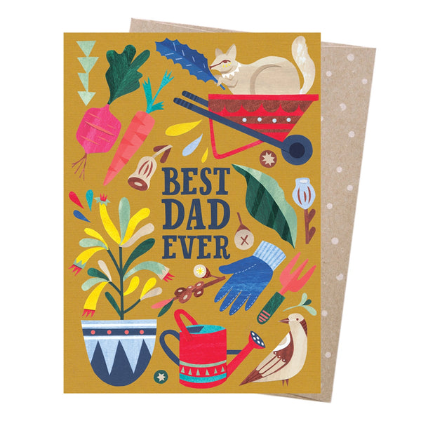 Earth Greetings Card -Best Dad Gardener