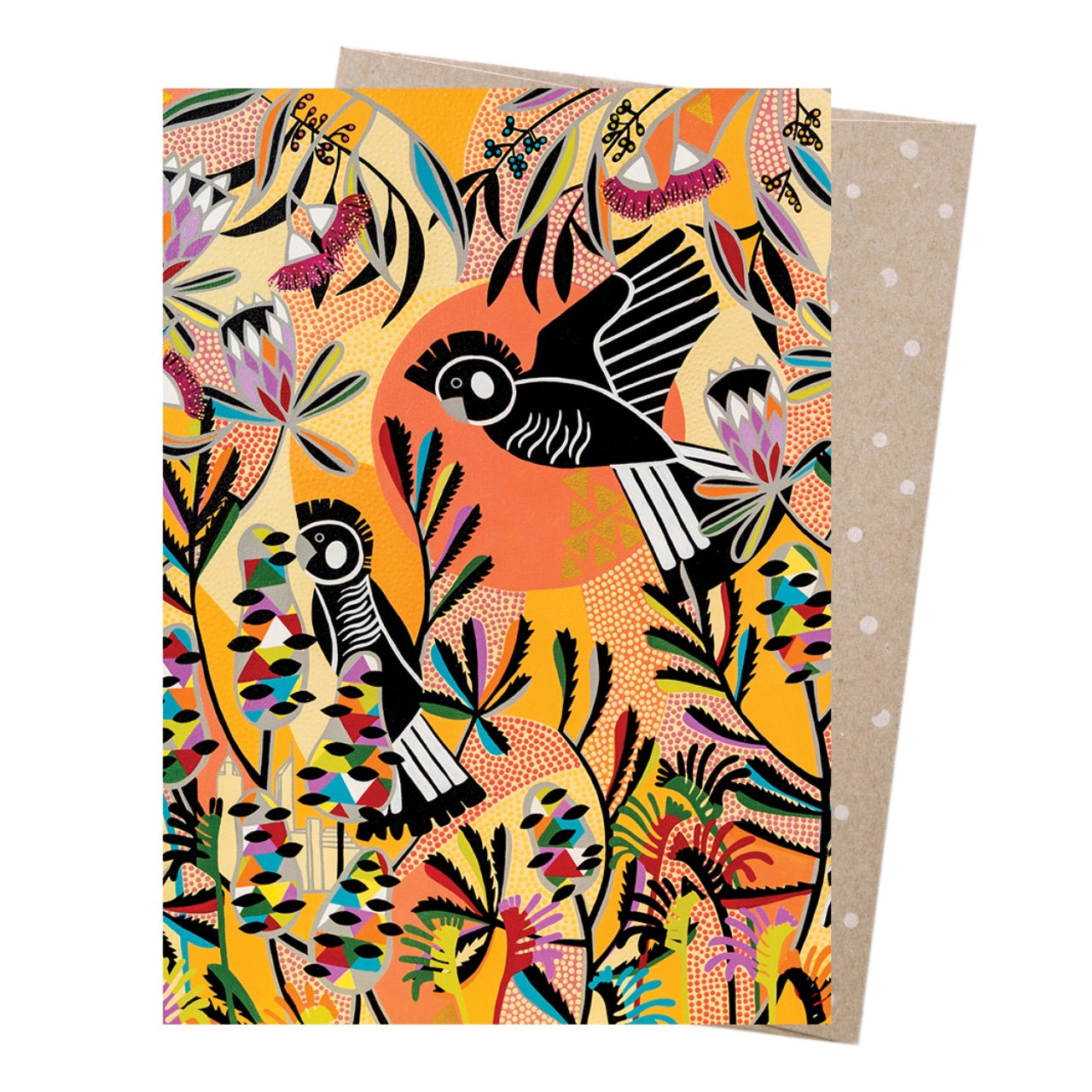 Earth Greetings Card -Carnaby's Cockatoo