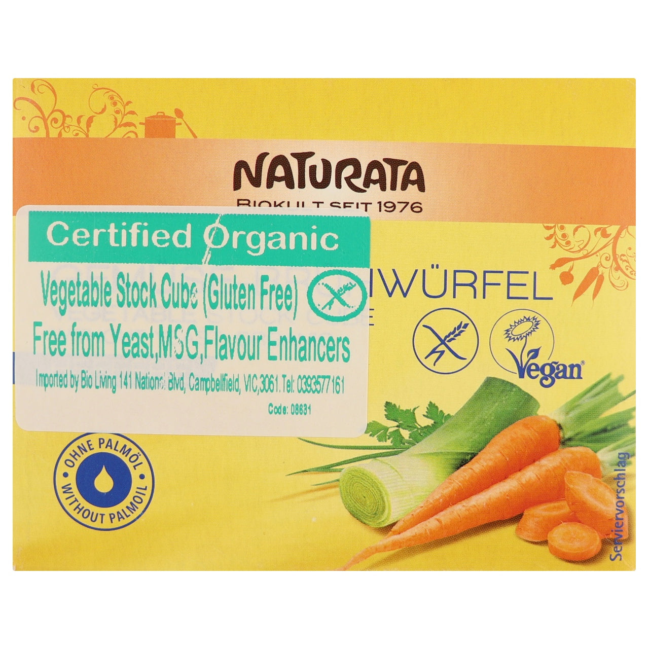 Naturata Yeast Free Vegetable Stock Cubes