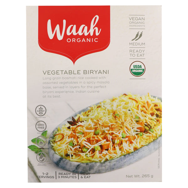 Waah Organic Vegetable Biryani