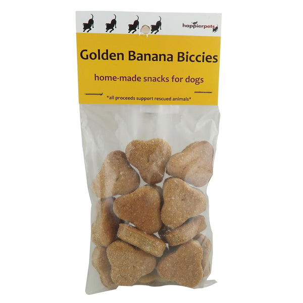 Happier Pets Golden Banana Biccies (Large) for Dogs