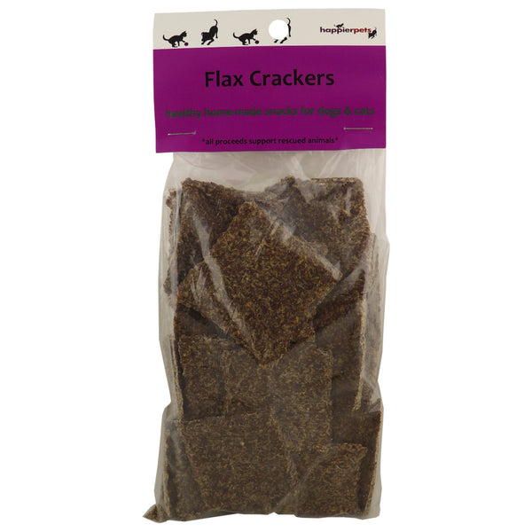 Happier Pets Dog Flax Crackers