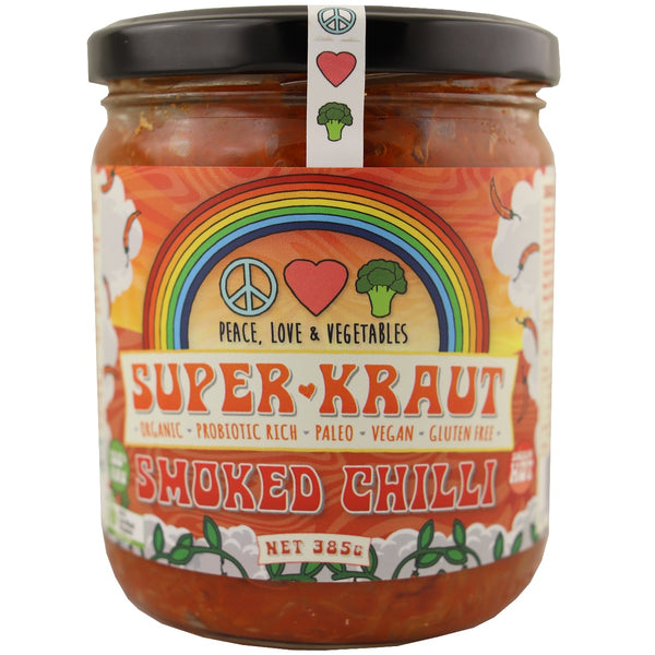 Peace Love & Vegetables Superkraut -Smoked Chilli