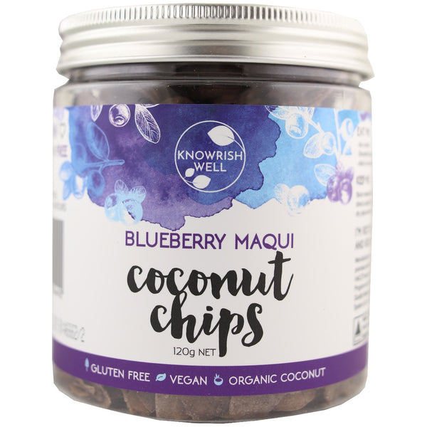 Knowrish Well Coconut Chips - Blueberry Maqui