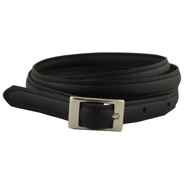 Vegan Wares Thin Belt -Short Square Buckle