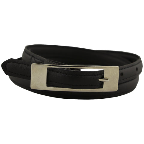Vegan Wares Thin Belt -Long Square Buckle