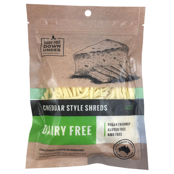 Dairy Free Down Under Cheddar Style Shreds