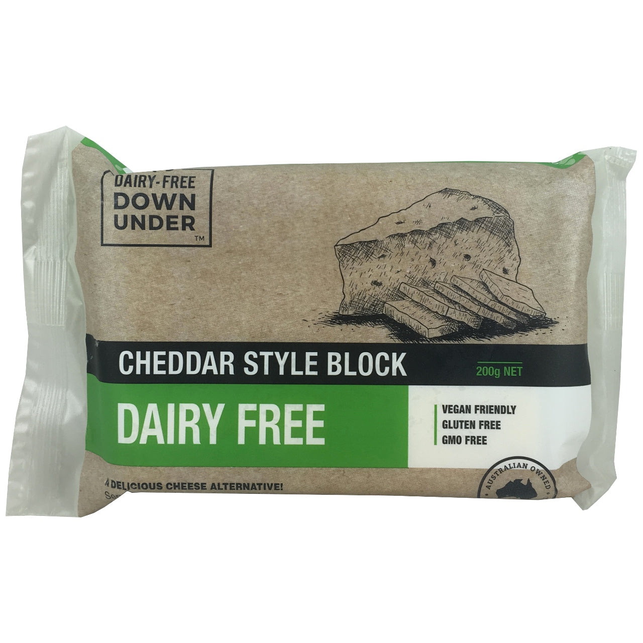 Dairy Free Down Under Cheddar Style Block