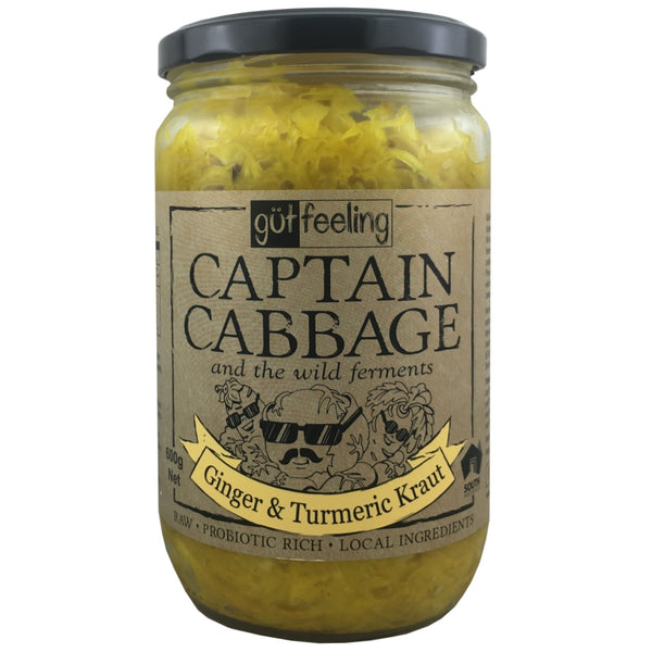 Captain Cabbage Ginger & Turmeric Kraut