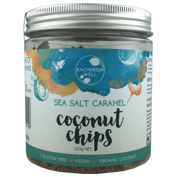 Knowrish Well Coconut Chips - Sea Salt Caramel