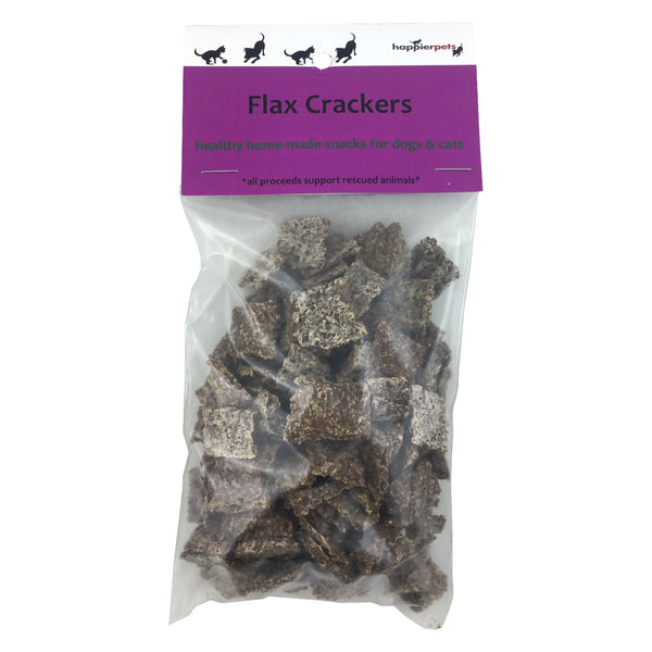 Happier Pets Flax Crackers (Small) for Dogs & Cats