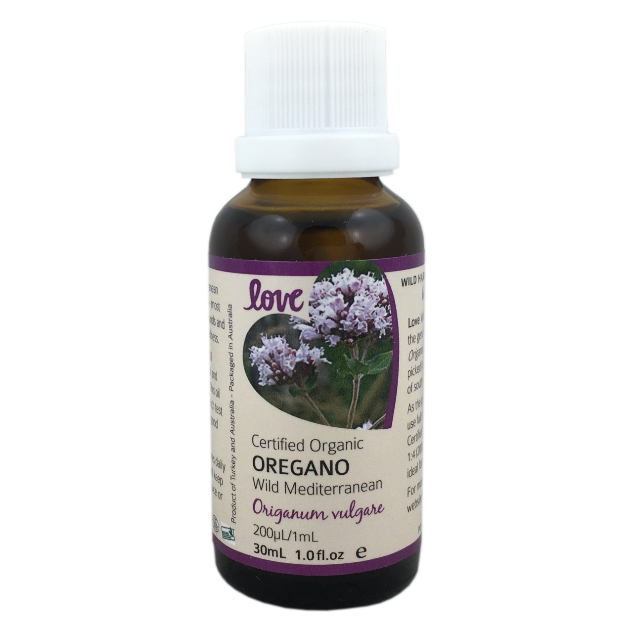 Love Certified Organic Oregano Oil