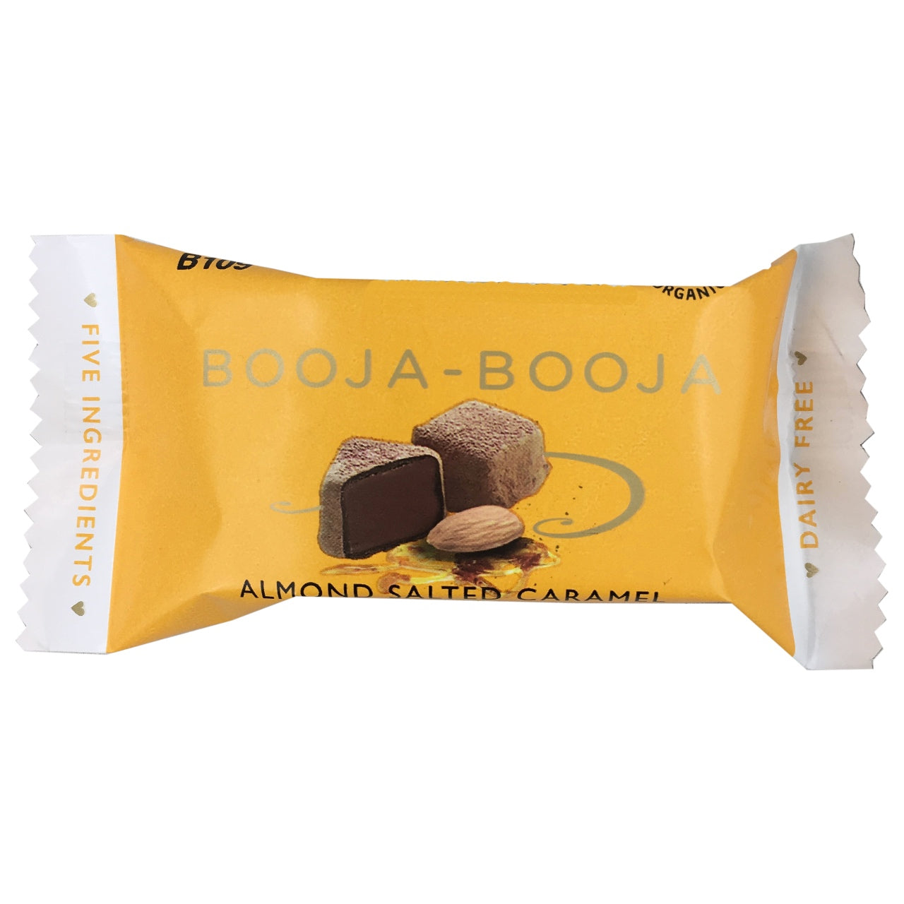 Booja-Booja Organic Almond and Sea Salt Caramel Truffle (Best Before May 30th 2018)