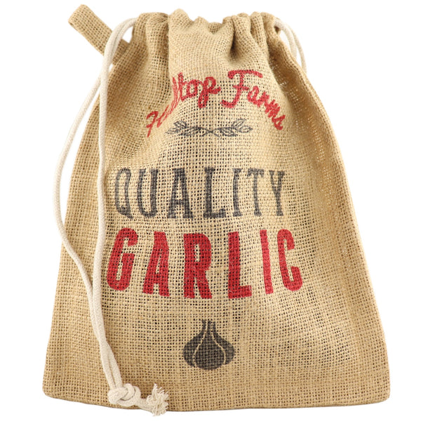 Retro Kitchen Garlic Produce Sack