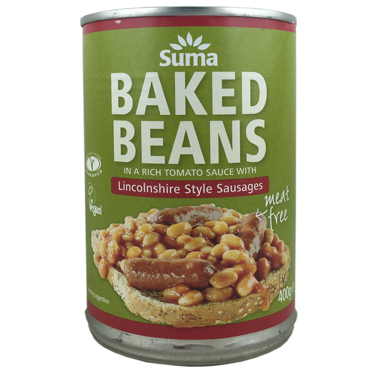 Suma Baked Beans with Lincolnshire Sausages