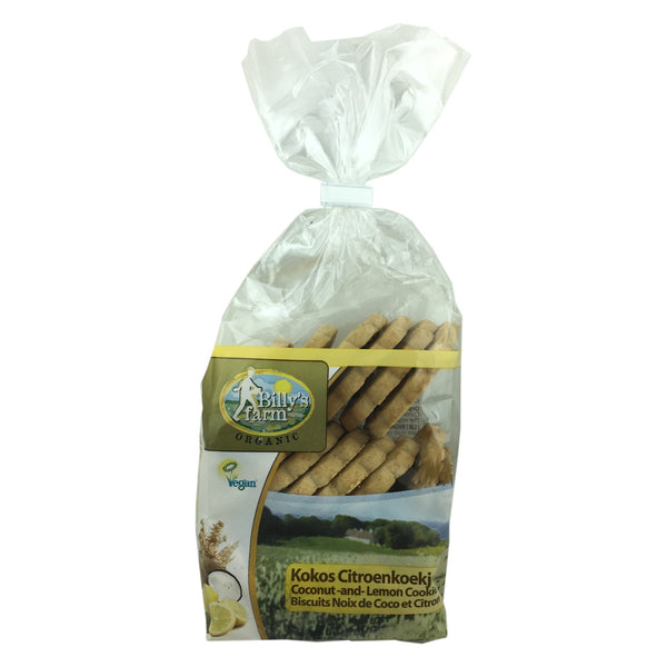 Billy's Farm Organic Lemon and Coconut Cookies