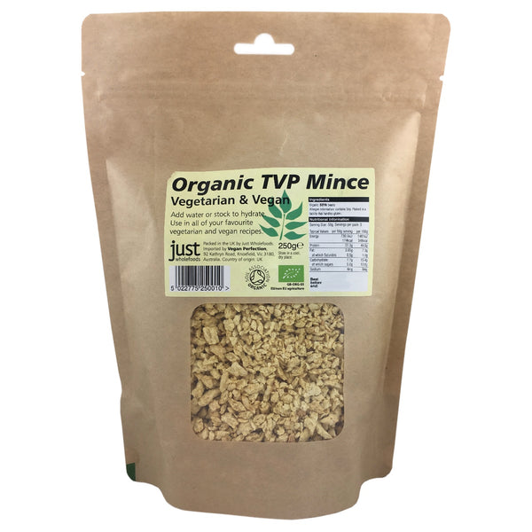 Just Wholefoods Organic TVP Mince