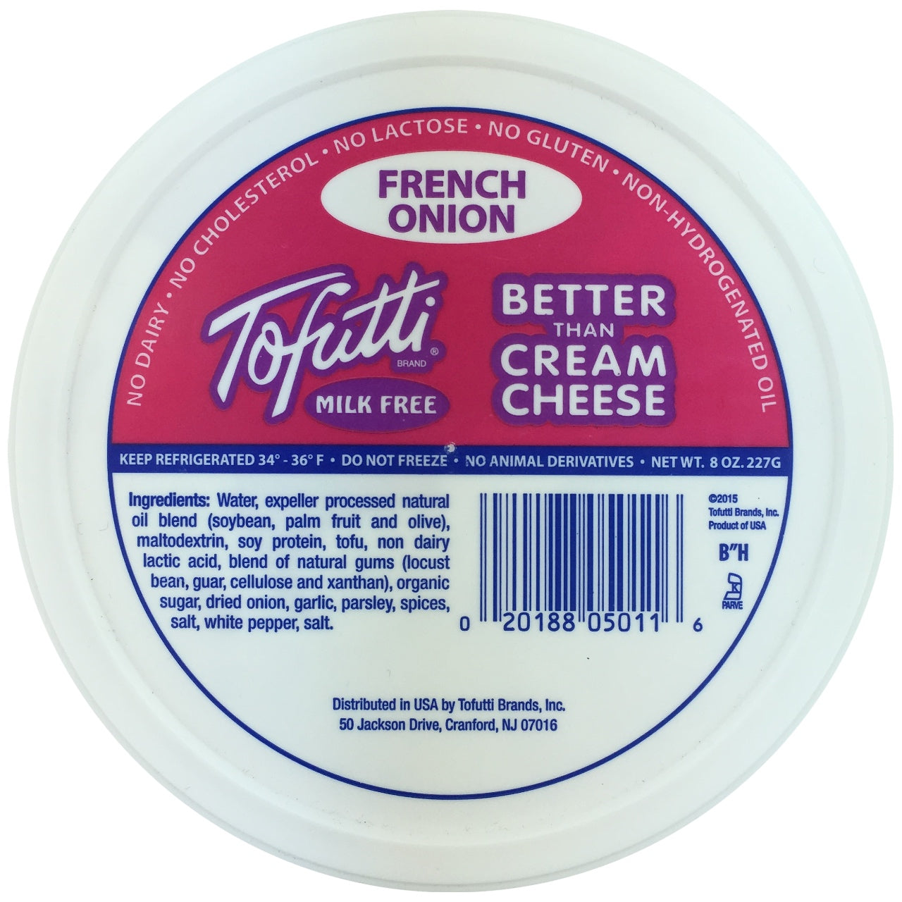 Tofutti Better than Cream Cheese - French Onion