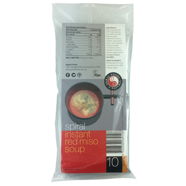 Spiral Foods Instant Red Miso Soup -10 pack