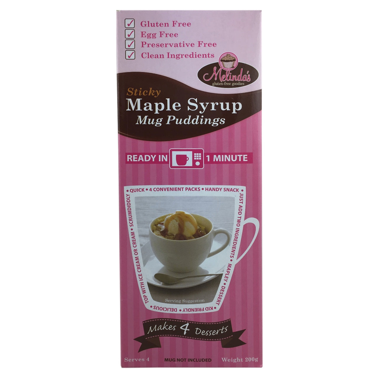 Melinda's Maple Syrup Mug Puddings