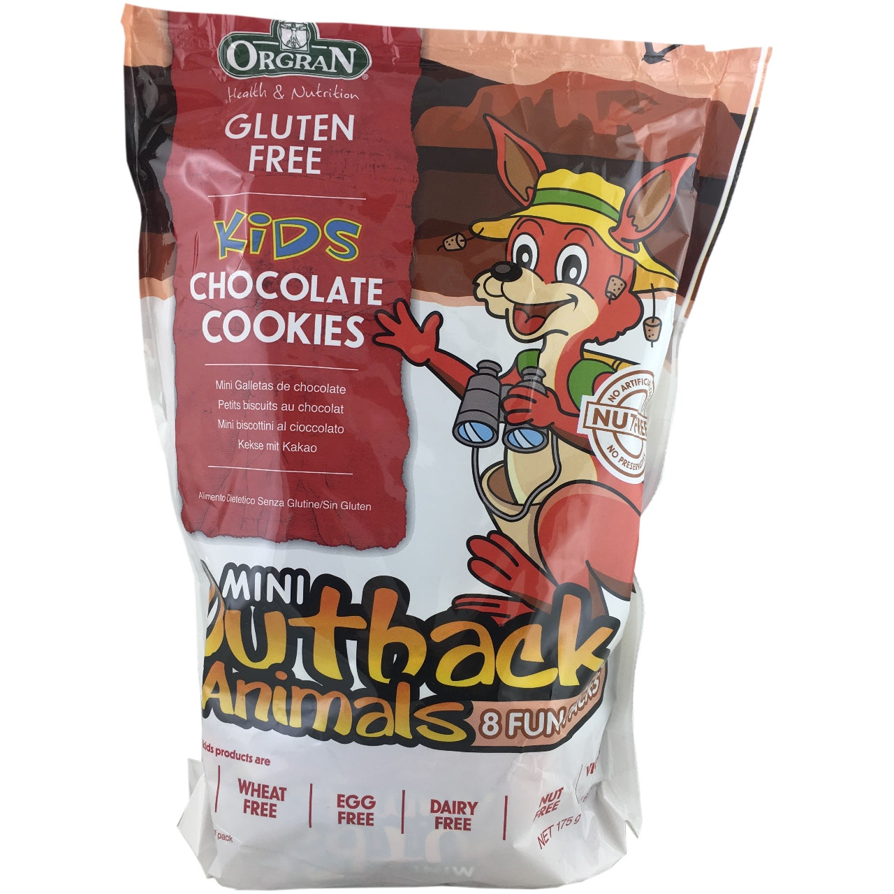 Orgran Chocolate Outback Animal Biscuits