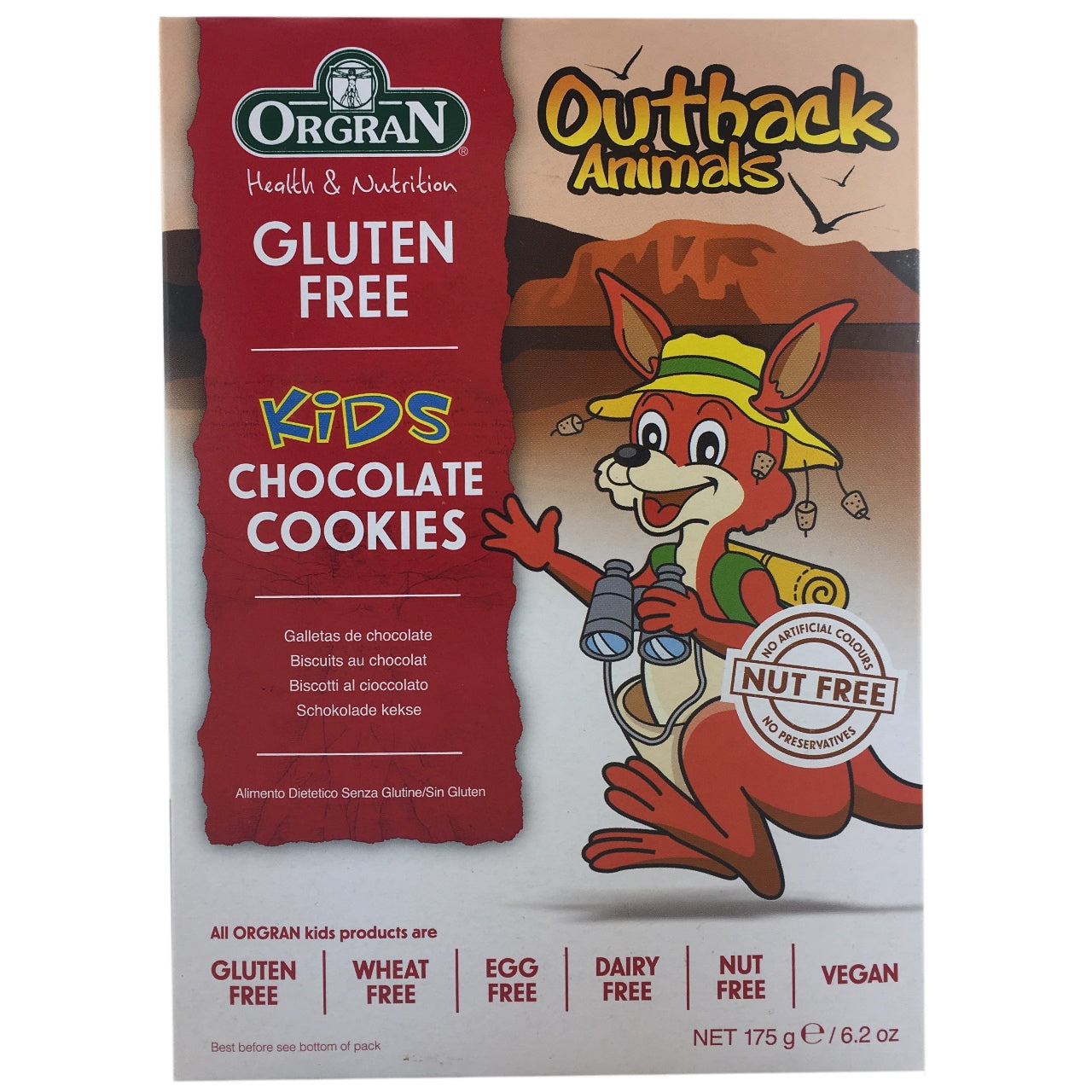 Orgran Outback Animals Chocolate Cookies- Best Before 31st October 2018
